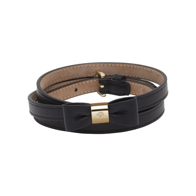 Mulberry Bow Belt Black Classic Nappa
