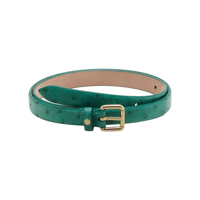 Mulberry Buckle Belt Emerald Ostrich