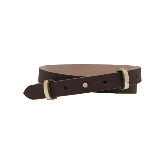 Mulberry Metal Loop Belt Chocolate Soft Saddle