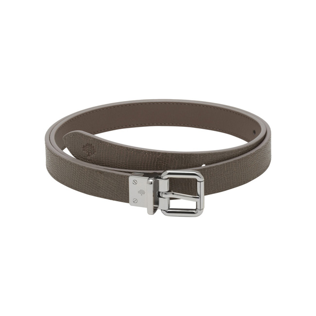 Mulberry Reversible Belt Taupe Classic Calf & Shiny Goat