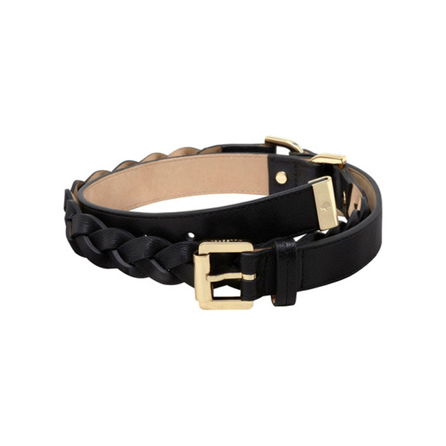 Mulberry Braided Belt Black Soft Buffalo