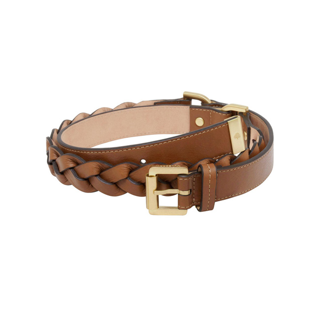 Mulberry Women Braided Belt Oak Soft Buffalo