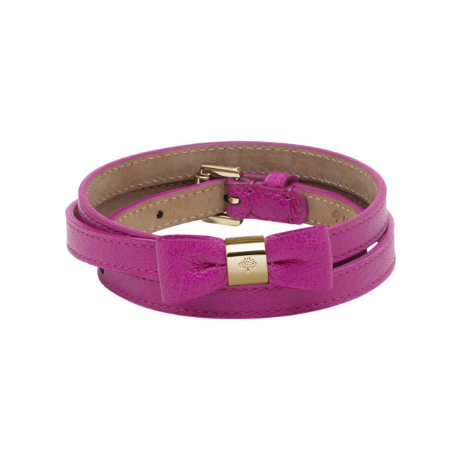 Mulberry Bow Belt Pink Glossy Goat