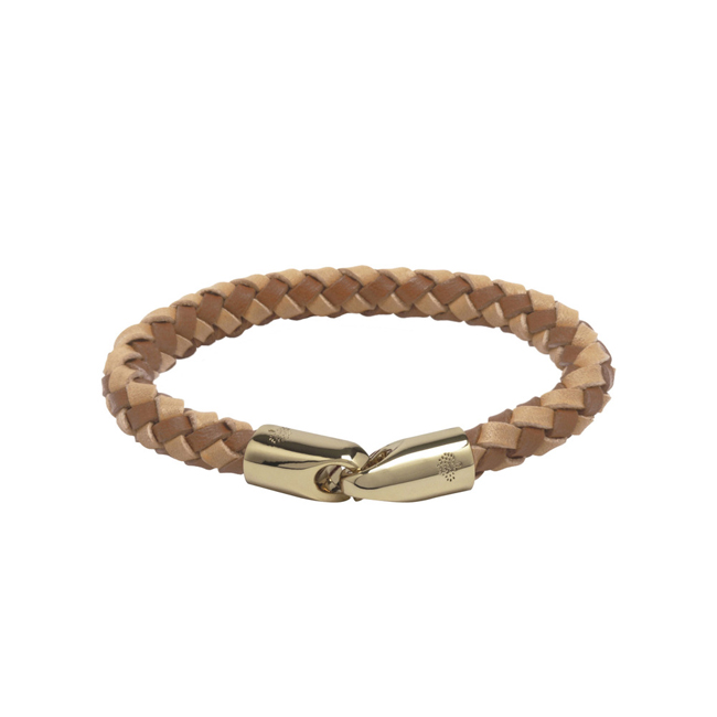 Mulberry Tubular Bracelet Natural & Oak Soft Saddle