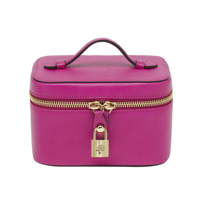 Mulberry Jewellery Case Pink Glossy Goat