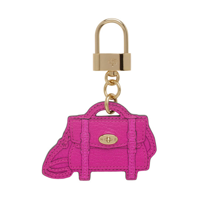 Mulberry Alexa Bag Charm Pink Glossy Goat