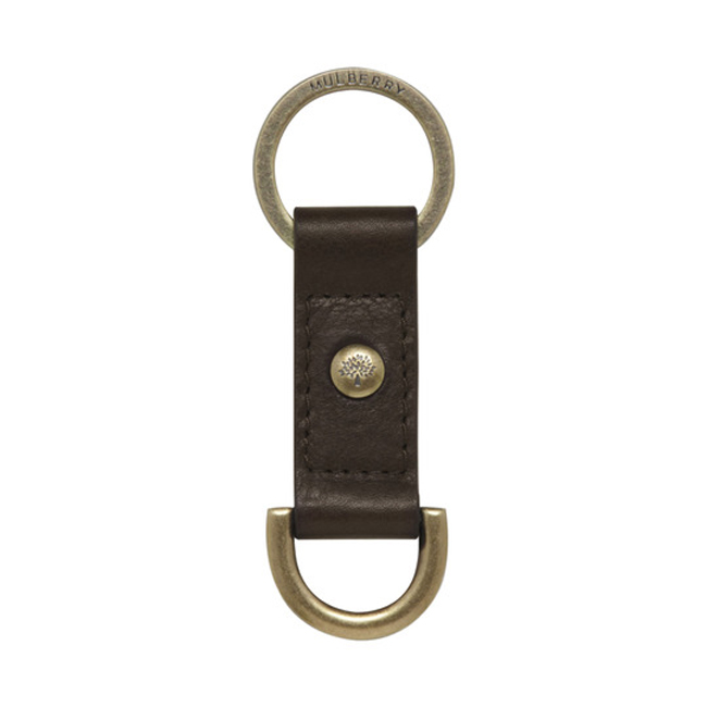 Mulberry Antony Keyring Chocolate Natural Leather