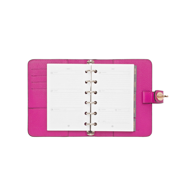 Mulberry Postman Lock Pocket Book Pink Glossy Goat