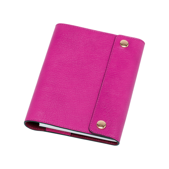 Mulberry A6 Notebook Cover Pink Glossy Goat