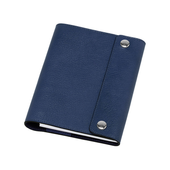 Mulberry A6 Notebook Cover Slate Blue Grainy Print