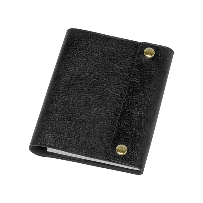 Mulberry A6 Notebook Cover Black Natural Leather