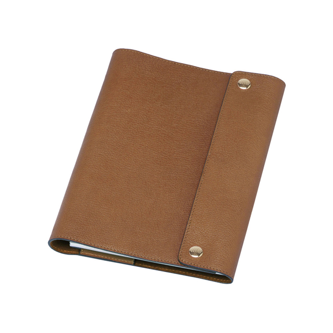 Mulberry A5 Notebook Cover Oak Natural Leather