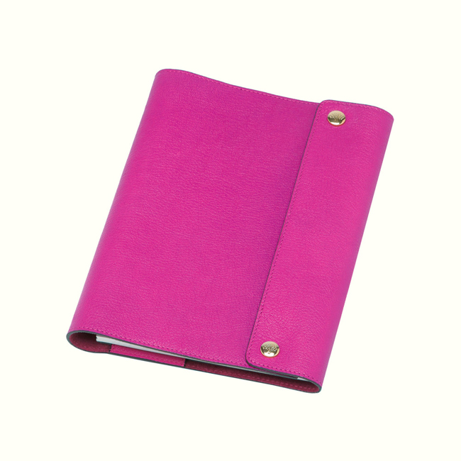 Mulberry A5 Notebook Cover Pink Glossy Goat