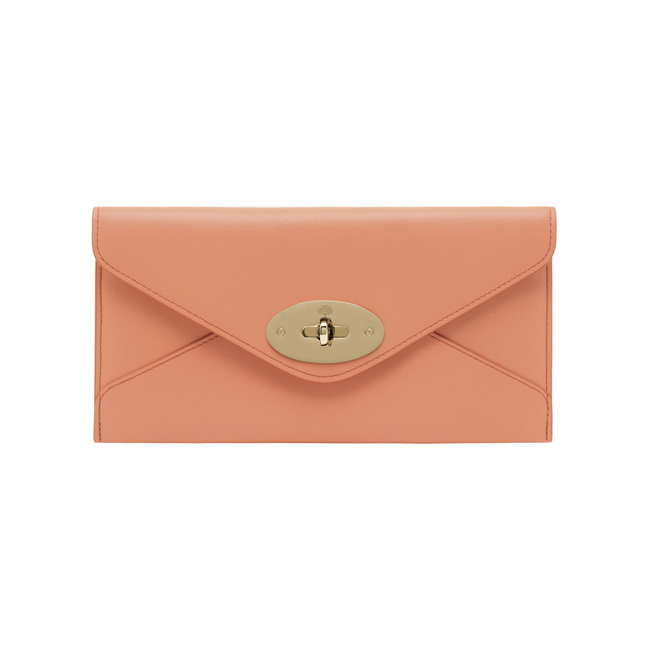 Mulberry Envelope Wallet Bright Apricot Classic Calf