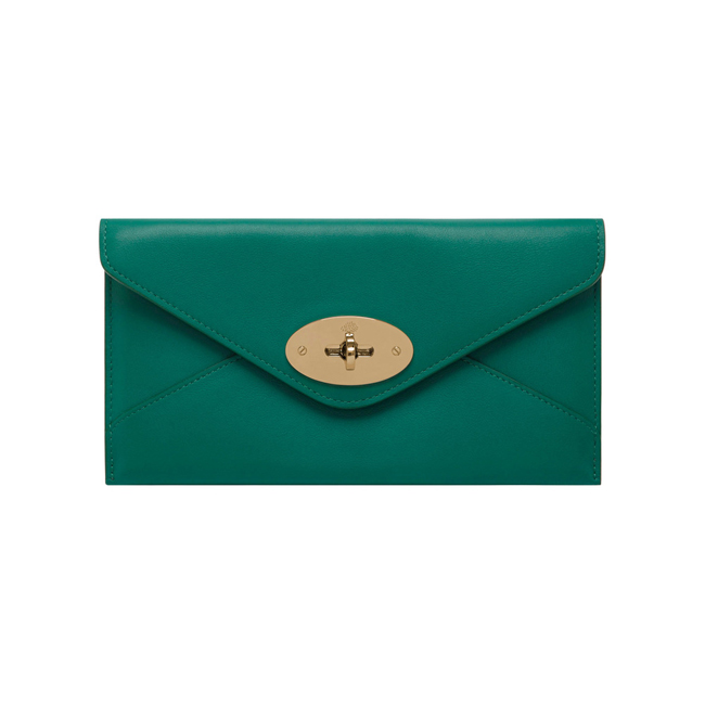 Mulberry Envelope Wallet Emerald Silky Classic Calf