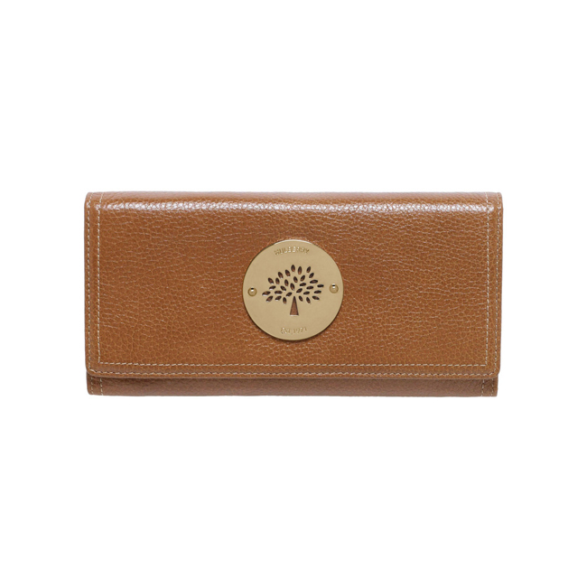 Mulberry Daria Continental Wallet Oak Soft Spongy