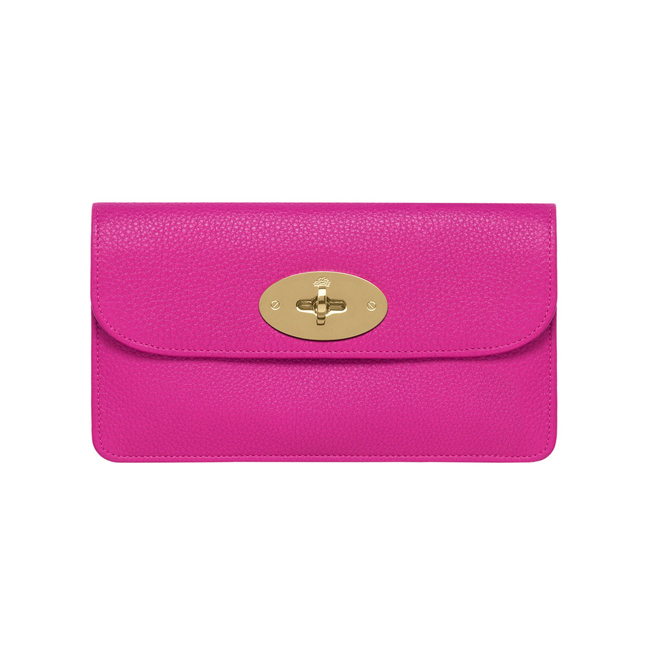 Mulberry Long Locked Purse Pink Glossy Goat
