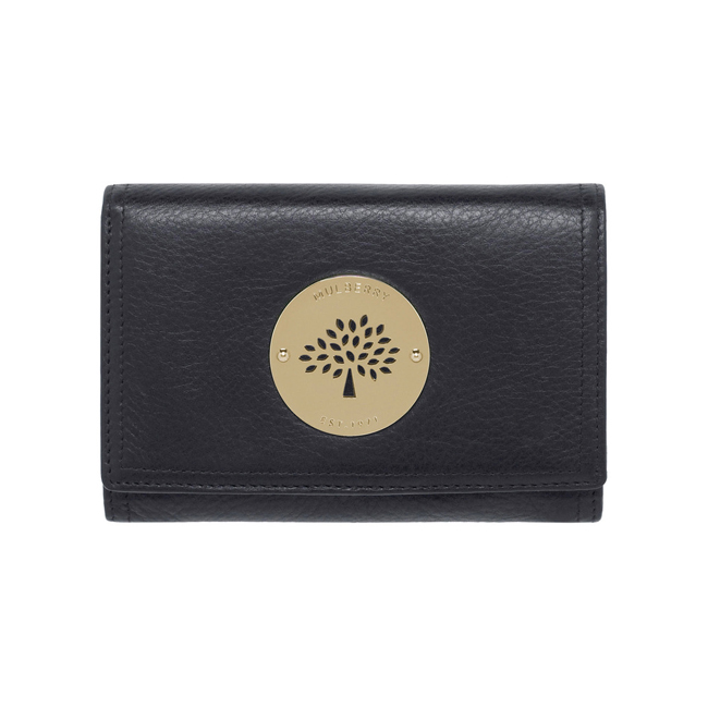 a62857ee52bc ... store mulberry daria french purse black soft spongy leather a8ec5 7b0d8
