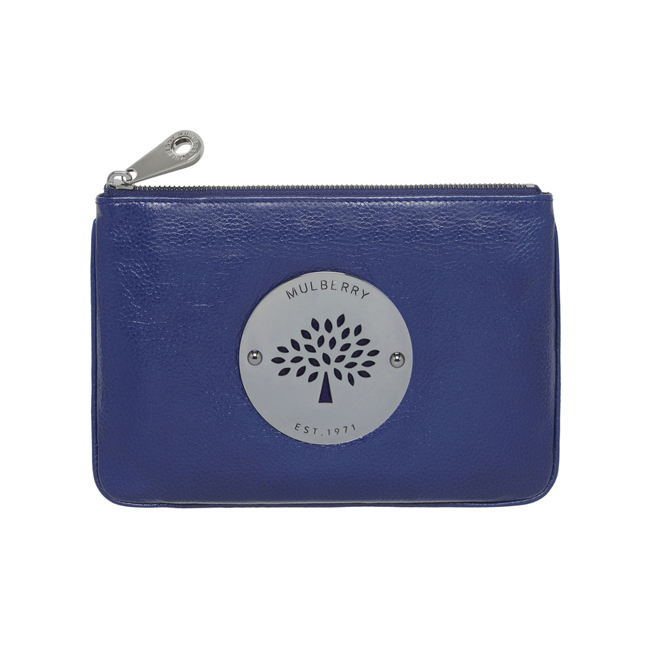 Mulberry Daria Pouch Cosmic Blue Soft Spongy