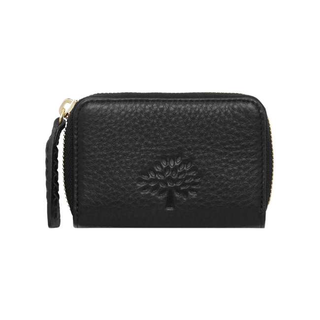 Mulberry Effie Small Zip Around Black Spongy Pebbled