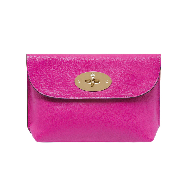 Mulberry Locked Cosmetic Purse Pink Glossy Goat
