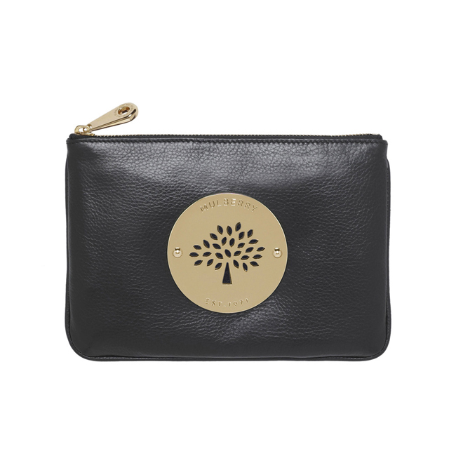 Cheap Mulberry Daria Pouch Black Soft Spongy Leather on sale 818c0786faa93