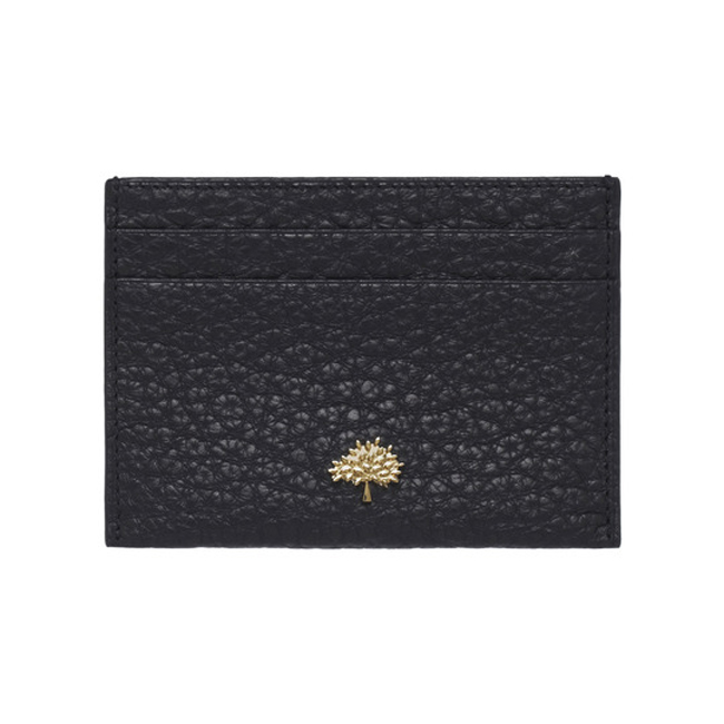 Mulberry Eliza Credit Card Slip Black Soft Large Grain