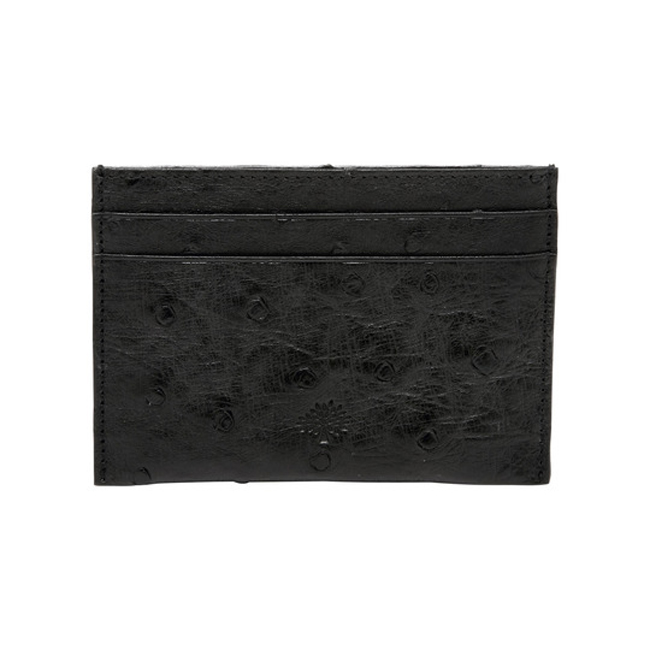 Mulberry Credit Card Slip Black Ostrich