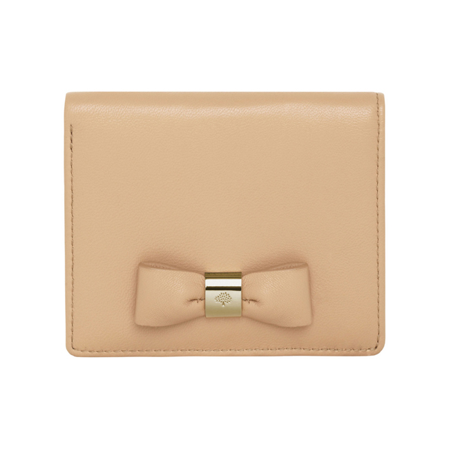 Mulberry Bow ID Purse Natural Classic Nappa