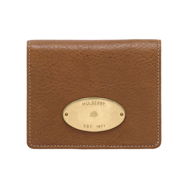 Mulberry ID Purse Oak Natural Leather