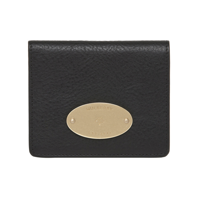 Mulberry ID Purse Black Natural Leather