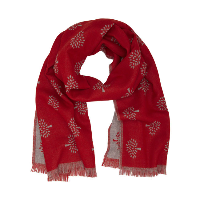 Mulberry Tree Wrap Bright Red Extra Fine Merino