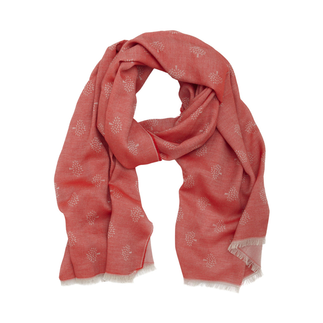Mulberry Tamara Scarf Bright Red Superfine Cotton