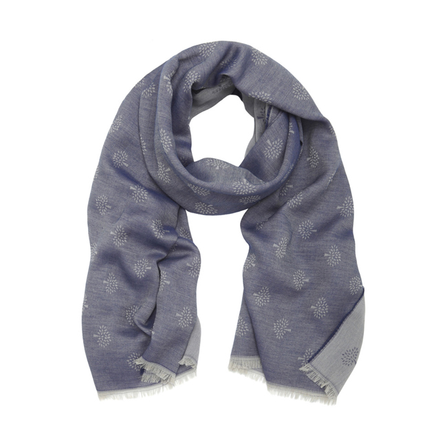 Mulberry Tamara Scarf Cosmic Blue Superfine Cotton