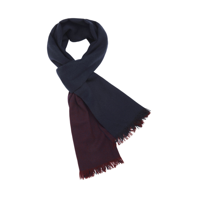 Mulberry Double Stripe Scarf Oxblood Cashmere