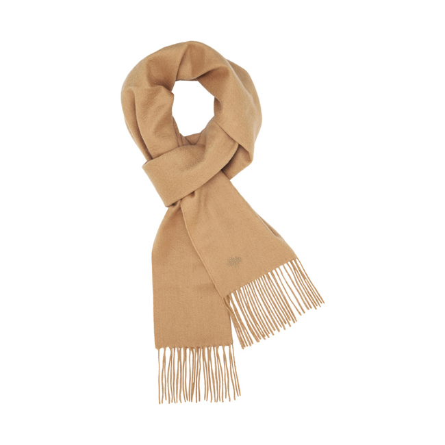 Mulberry Block Colour Scarf Camel Cashmere