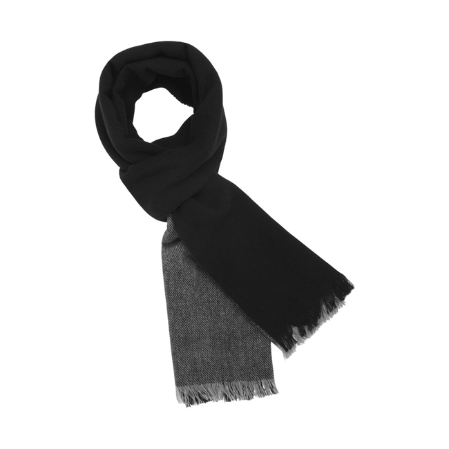 Mulberry Double Stripe Scarf Grey Marl Cashmere