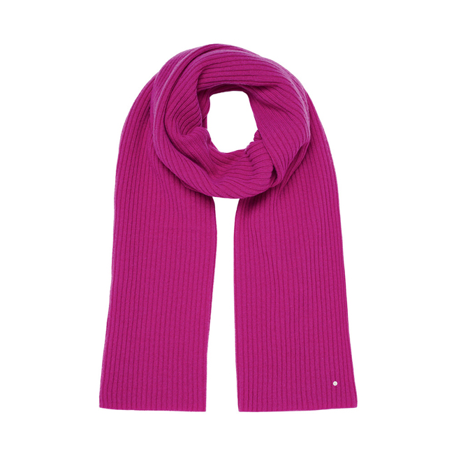 Mulberry Rib Scarf Pink Camel Hair
