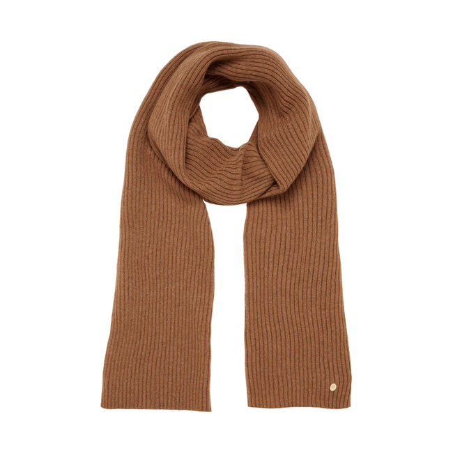 Mulberry Rib Scarf Oak Camel Hair