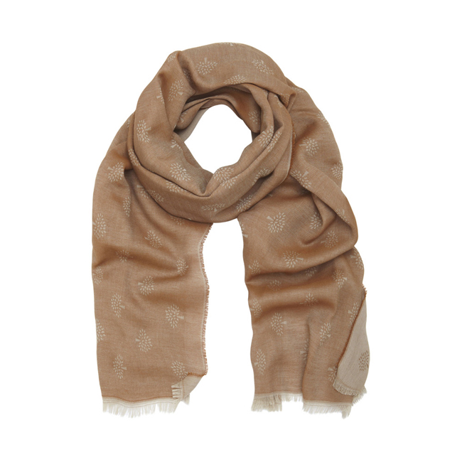 Mulberry Tamara Scarf Oak Superfine Cotton