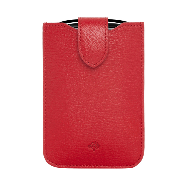 Mulberry Phone Cover with Tab Bright Red Shiny Goat