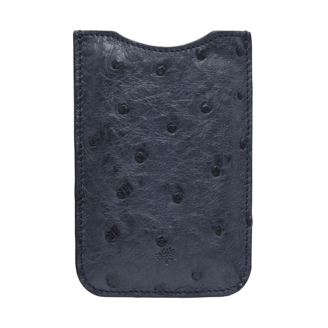 Mulberry iPhone Cover Ink Blue Ostrich