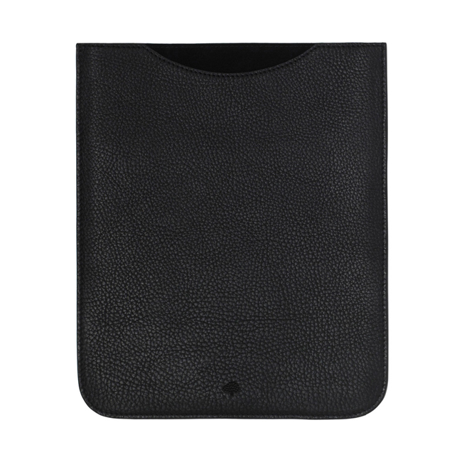 Mulberry Simple iPad Sleeve Black Natural Leather