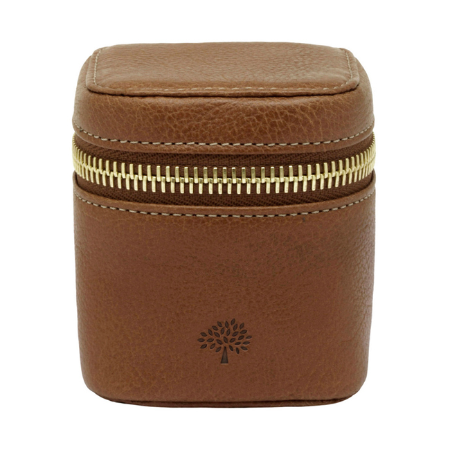 Mulberry Travel Adapter Oak Natural Leather