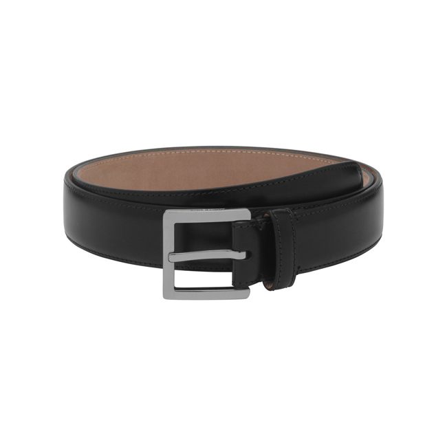 Mulberry Short Buckle Belt Black Smooth Classic With Nickel