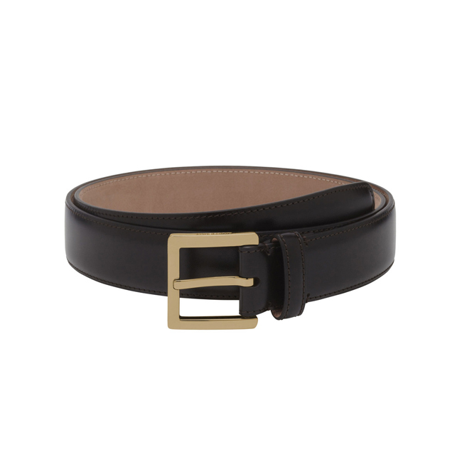 Mulberry Short Buckle Belt Brown Smooth Classic