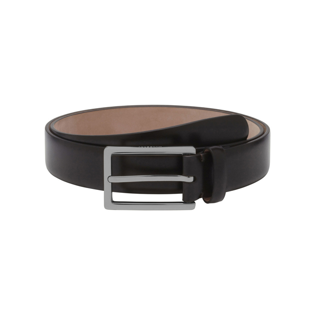 Mulberry Long Buckle Belt Brown Smooth Classic With Soft Gold