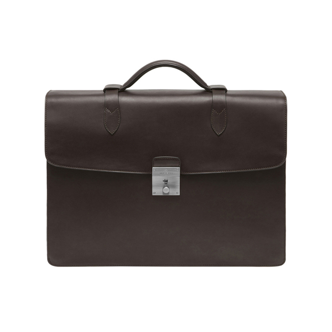 Mulberry Double Briefcase Chocolate Soft Saddle