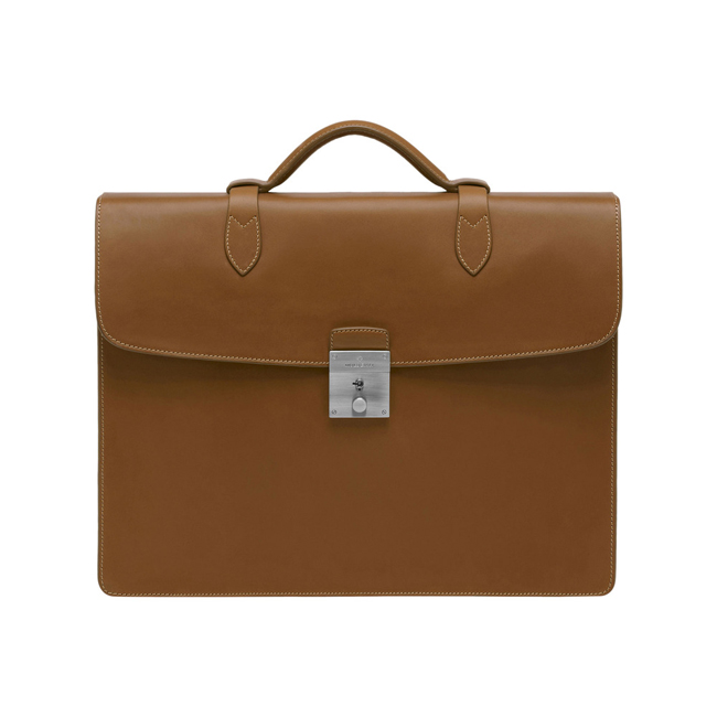 Mulberry Single Briefcase Oak Soft Saddle Shoulder
