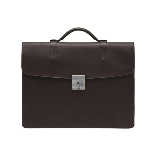 Mulberry Single Briefcase Chocolate Soft Saddle